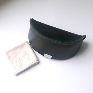 Hugo Boss Black Sunglasses Case and Cleaning Cloth